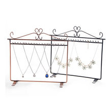 Mordoa Superior Jewelry Display Wrought Iron Hook Earring Rack Shelf Necklace Pendant Bracelet Container Storage Stand
