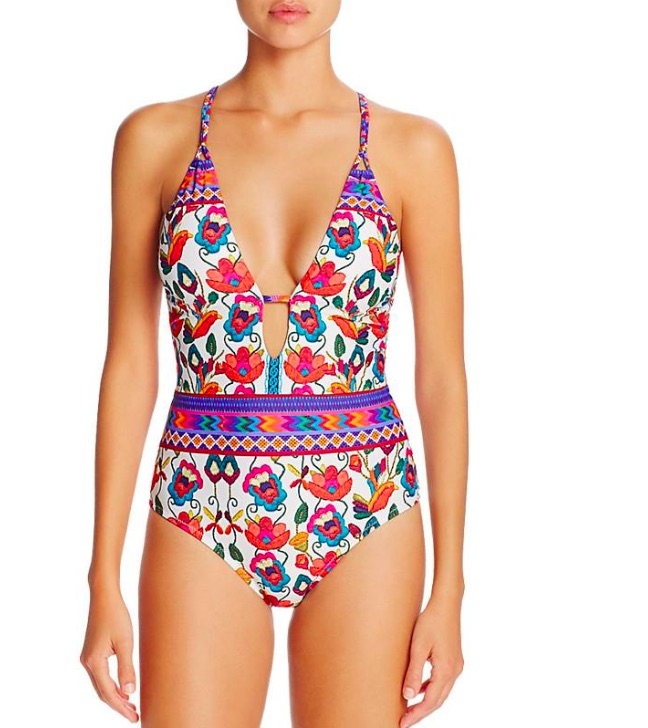 Hot 2017 Mulheres Floral Impresso One-Piece Set Biquinis Swimsuit Swimwear Maiô Beachwear Biquíni