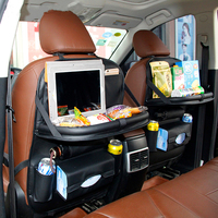 Car Back Seat Bag Travel Folding Table Kids Eat Organizer Bags Phone Pad Chair Storage Pock Box Stowing Tidying Auto Accessories