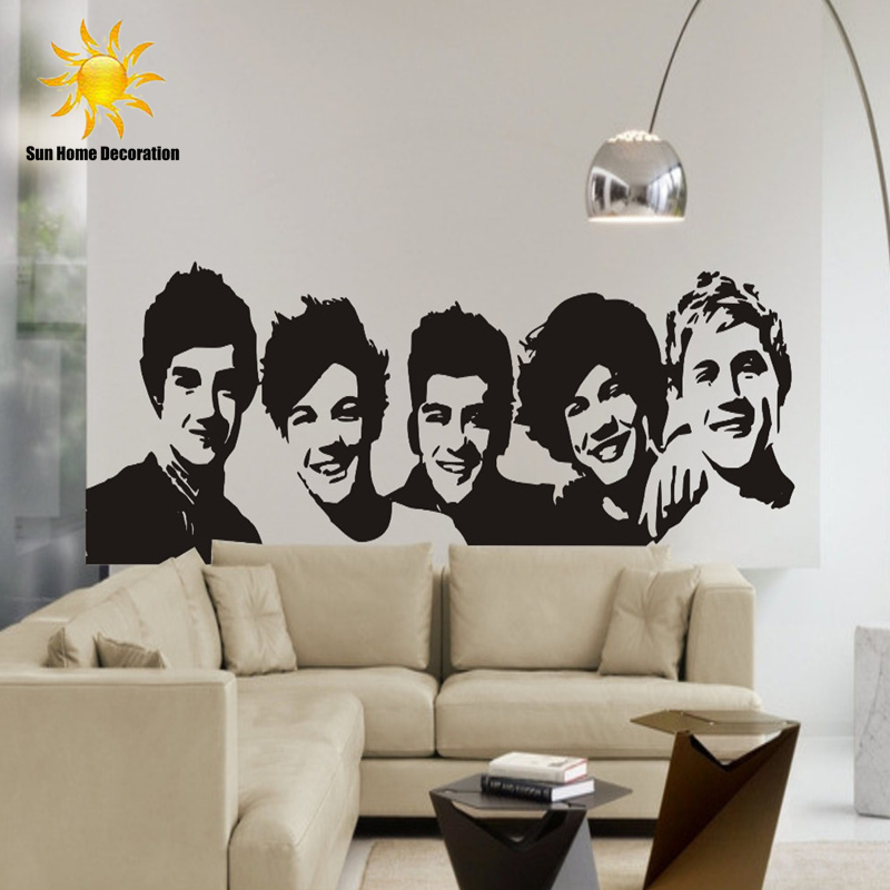 Diy One Direction Wall Decor : Aliexpress buy diy black wall sticker one direction