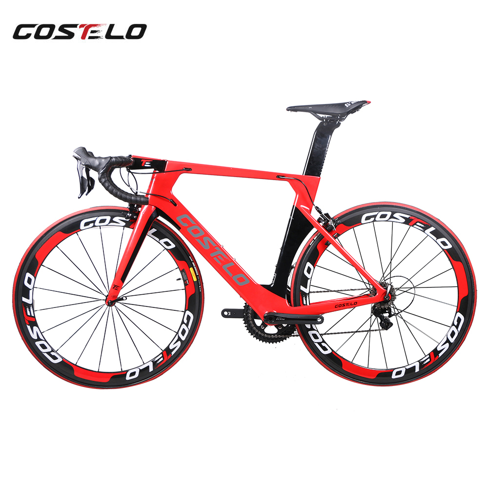 New Technology AEROMACHINE MONOCOQUE one piece Full Carbon Road Complete Bike Road Bicycle Frame wheels R8000