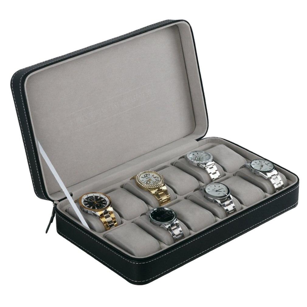 caso com zíper multi-funcional pulseira relógios exibição