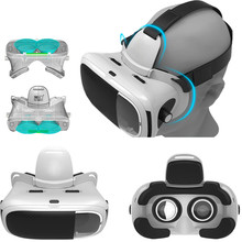 VMAX Virtual Reality 3D Glasses Box Goggles VR Headset for 4-6 inch IOS Phone Android Smartphones