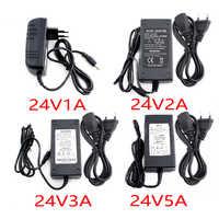 24 V Adattatore di Alimentazione Ac Dc 1A 2A 3A 5A Del Convertitore Trasformatore 110V 220V a 24 V 24 V Power Adapter Charger di Alimentazione per La Luce di Striscia Del Led