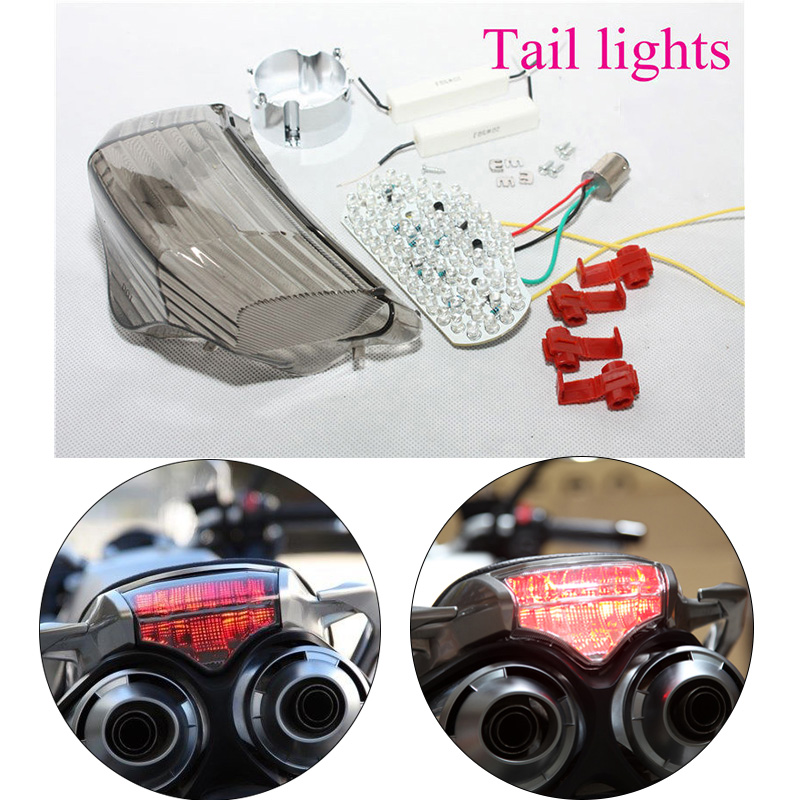 For 04-14 Yamaha FZ6 FAZER 600 LED Tail Brake Light Rear Turn Signals Indicator Integrated Lamps 2004 2005 2006 2007 2008-2014 motorcycle carbon ceramic brake pads for yamaha fz6 600 fazer s2 2007 2009 front oem new zpmoto