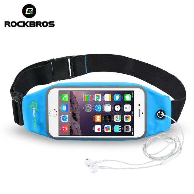 ROCKBROS Waterproof Running Bag Waist Bag Sport Belt Bags 5.8-6 Inch Phone Pouch Case Bags For IPhone 6 7 Plus Sport Accessories 2