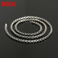 4 5mm 100 Real 925 Sterling Silver Chain Necklace Pendant Women Men Scripture Trend GD Same