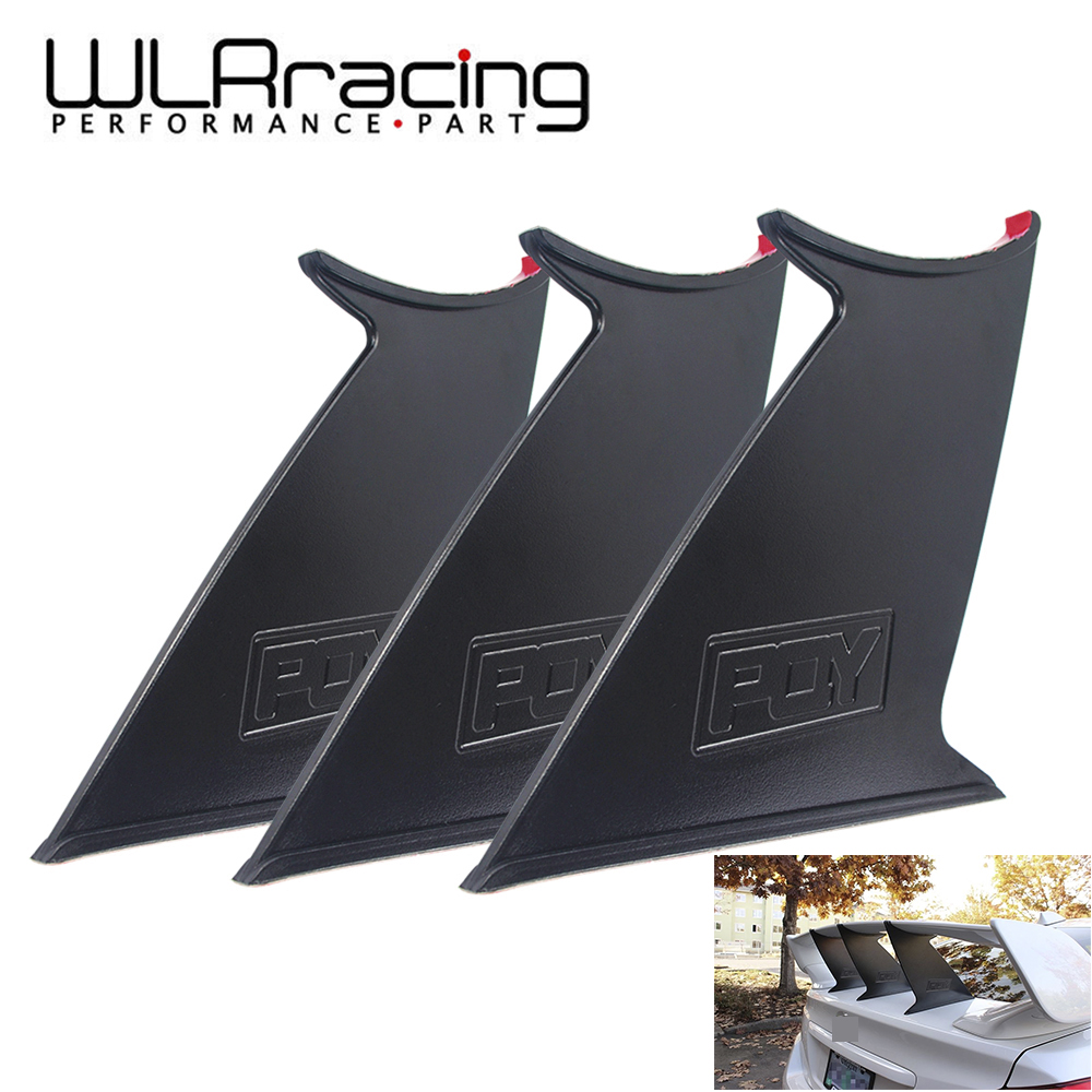 WLR RACING - Spoiler Wing Stabilizer For subaru STI 2015-18 Spoiler Wing Stiffi Support Rally With PQY logo Set of 3Pieces front canard wing set spoiler for 1 10 rc racing car free shipping