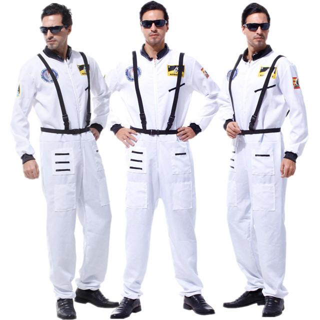 White Color Adult Astronaut Costume for Men Christmas Carnival Halloween Masquerade Fancy Dress Pilot Cosplay Clothes  sc 1 st  AliExpress.com & White Color Adult Astronaut Costume for Men Christmas Carnival ...