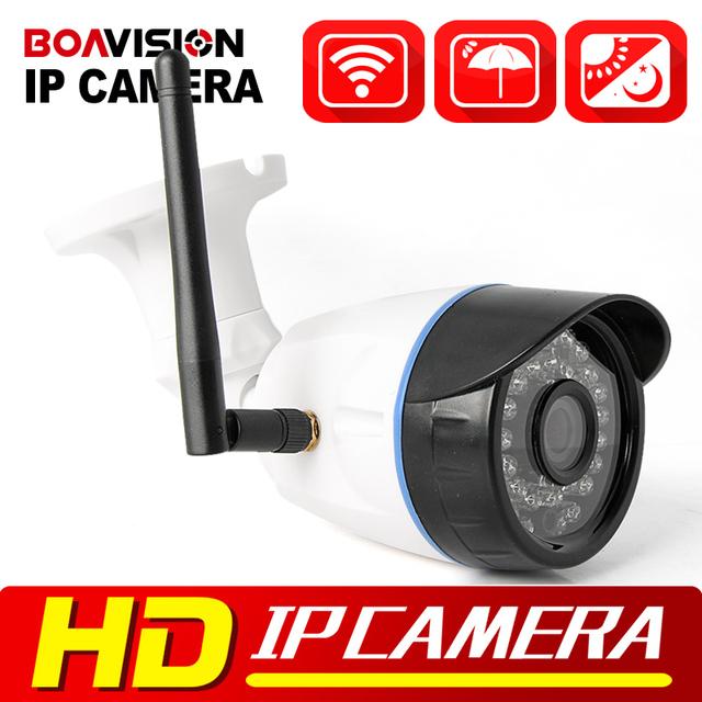 HD 720 P 1080 P Wi-fi Onvif P2P Câmera IP Sem Fio Ao Ar Livre de Vigilância CCTV Câmera de Segurança Bala 1.0MP IP 2MP XMEye à prova d' água