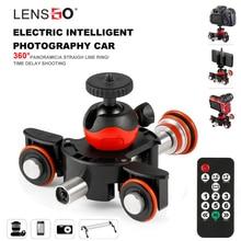 Lensgo Камера видео стабилизационная система моторизованный Электрический ползунок двигатель Долли для грузовых автомобилей, для цифровой зеркальной камеры Nikon Canon sony DSLR Камера 3-х колесный Долли
