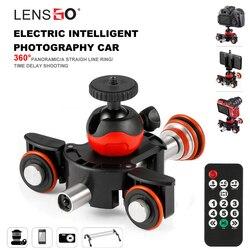 LENSGO Camera Video Track dolly Motorized Electric Slider Motor Dolly Truck Car for Nikon Canon Sony DSLR Camera 3-wheel dolly