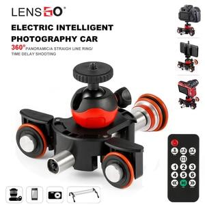 Image 1 - LENSGO Camera Video Track dolly Motorized Electric Slider Motor Dolly Truck Car for Nikon Canon Sony DSLR Camera 3 wheel dolly