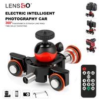 LENSGO Camera Video Track dolly Motorized Electric Slider Motor Dolly Truck Car for Nikon Canon Sony DSLR Camera 3 wheel dolly
