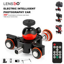 LENSGO Kamera Video Parça dolly Motorlu Elektrikli Kaymak Motoru Dolly Kamyon Araba Nikon Canon Sony için DSLR Kamera 3 tekerlekli dolly