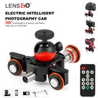 LENSGO cámara vídeo pista dolly motorizado Motor deslizador eléctrico Dolly camión para Nikon Canon Sony DSLR Cámara 3- rueda de