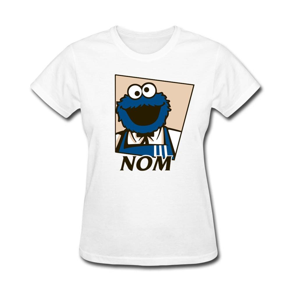 wisdom kfc and cookie monster nom cycling bike t shirts