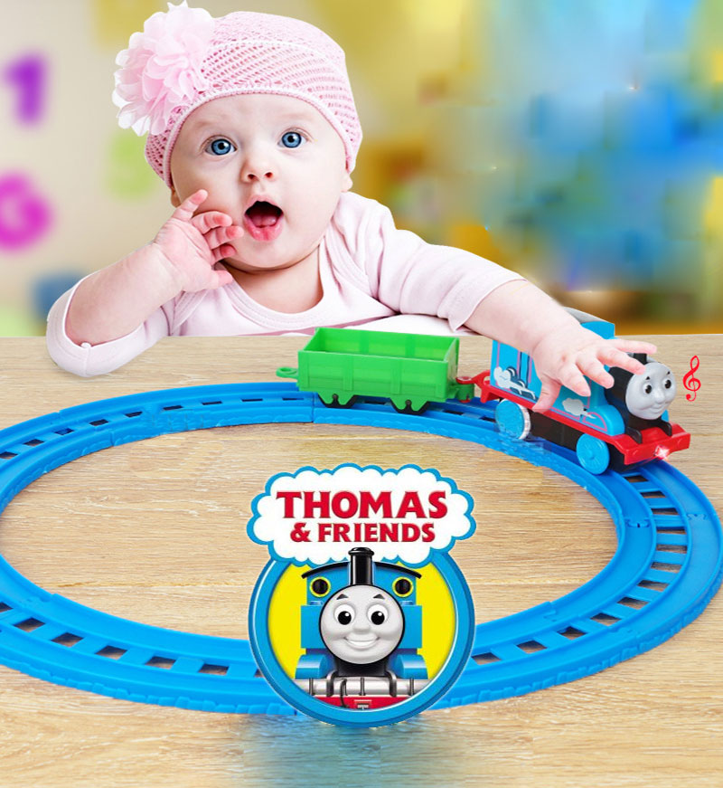 Thomas Cars Toy Electric Thomas Track With Car Scene Birthday Cake DIY Creative Decoration Small Locomotive Toy Boy Toy Gift