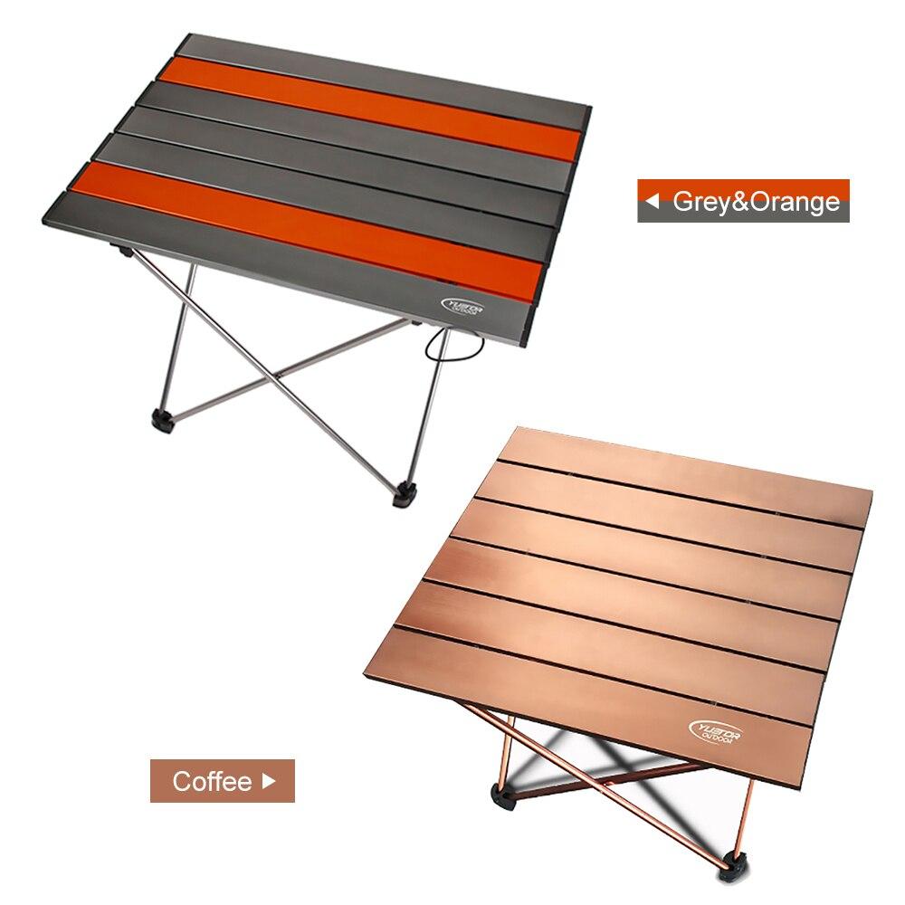 Bureau de Table pliant pliable Portable ultra-léger en alliage d'aluminium en plein air Camping Table de pique-nique bureau pour Camping pêche randonnée