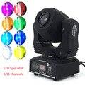 Fast & free envio gratuito de luz em movimento da cabeça 60 w led spot light com roda de gobo & cor 9/11chs para djs discotecas equipmentnt