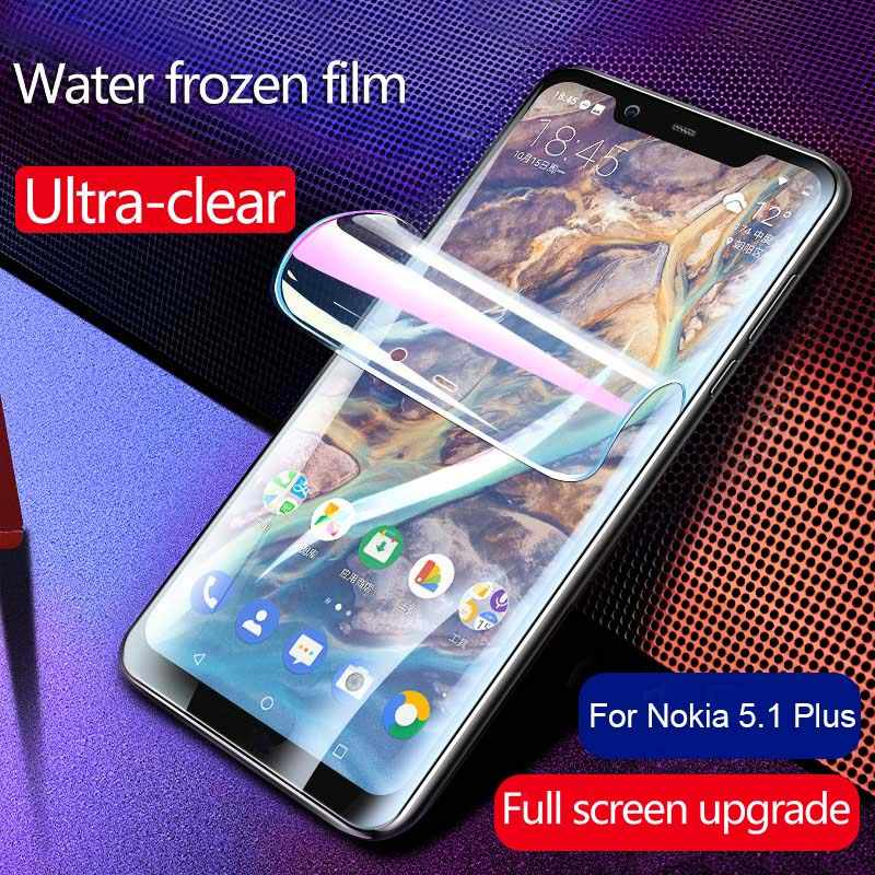 Screen Protector For Nokia 5.1 Plus Hydrogel Explosion-proof Film For Nokia X5 2018 TA-1109 Transparent Ultra-Clear Fim