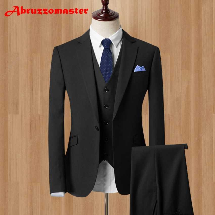 541a3789de6de3 ... about 2019 Men Business Suit Slim fit Classic Male Suits Blazers Luxury  Terno Masculi Suit Men One Buttons 3 Pieces(jacket+pants+Vest) on  Aliexpress.com ...
