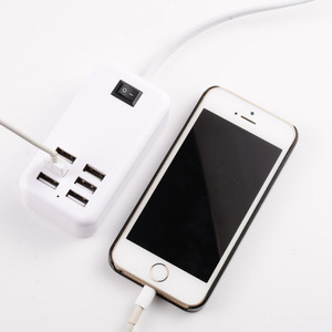 Image 4 - EU USB plug home travel charger  wall powder adapter smart usb socket hub outlet multi connection socket for xiaomi for iphone