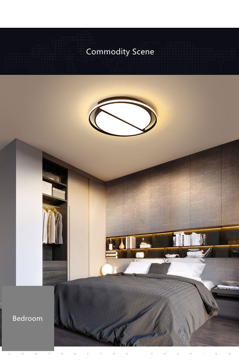 Round Ceiling Chandelier Plafonnier LED Lamp Modern Chandeliers Luminaria 4