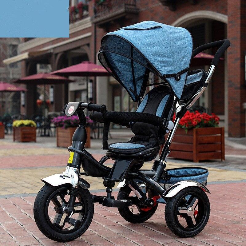 2017 enfants Tricycle landau 3 roues bébé poussette enfant trois roues chariot bébé Buggy vélo vélo pour 6 mois à 6 ans