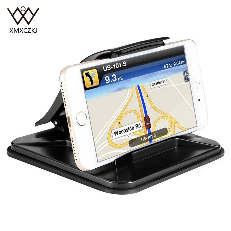 Suporte do telefone Painel Universal Montagens Berços Lavável Silicone Anti-Slip Titular GPS Do Carro para o iphone X 8 7 6 suporte Do Telefone móvel