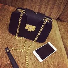 2016 women's handbag, vintage chain shoulder messenger lockbutton bag
