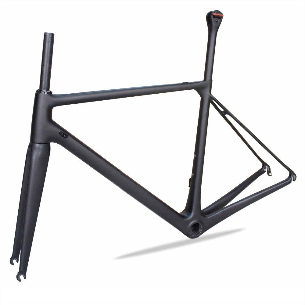 Cadre de vélo de route en carbone Super léger MIRACLE T1000 2019, pince de fourche de cadre de vélo chinois UD matte PF30