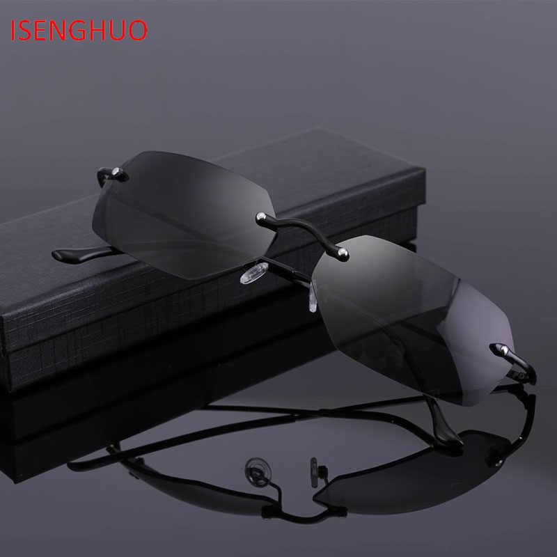 ISENGHUO классические очки без оправы Matrix Neo Morpheus UV400 Movie солнцезащитные culos de feminino gafas