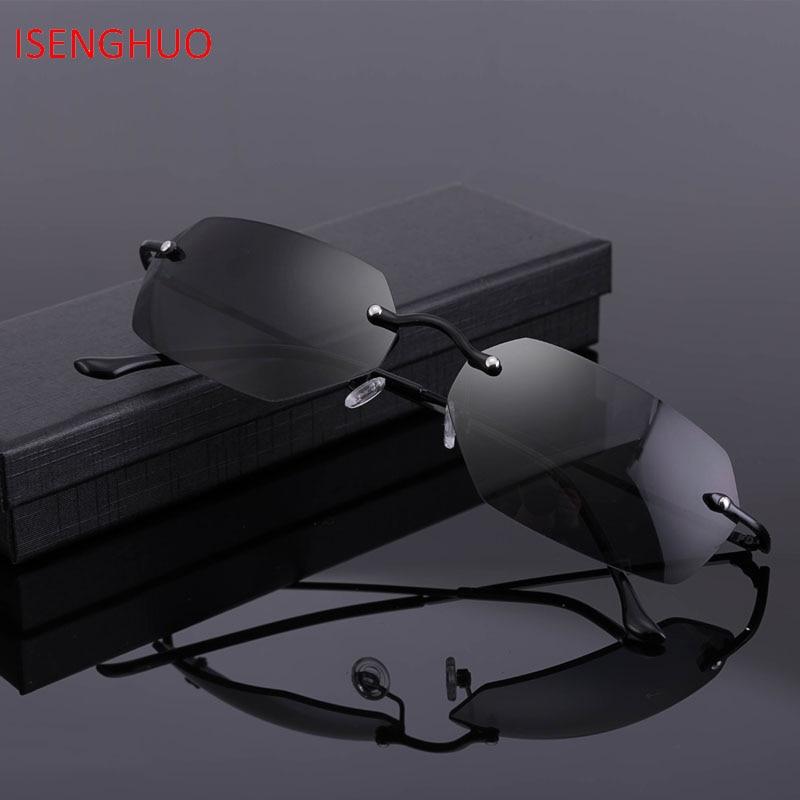 Isenghuo sem aro clássico óculos de sol matriz neo morpheus uv400 filme óculos de sol