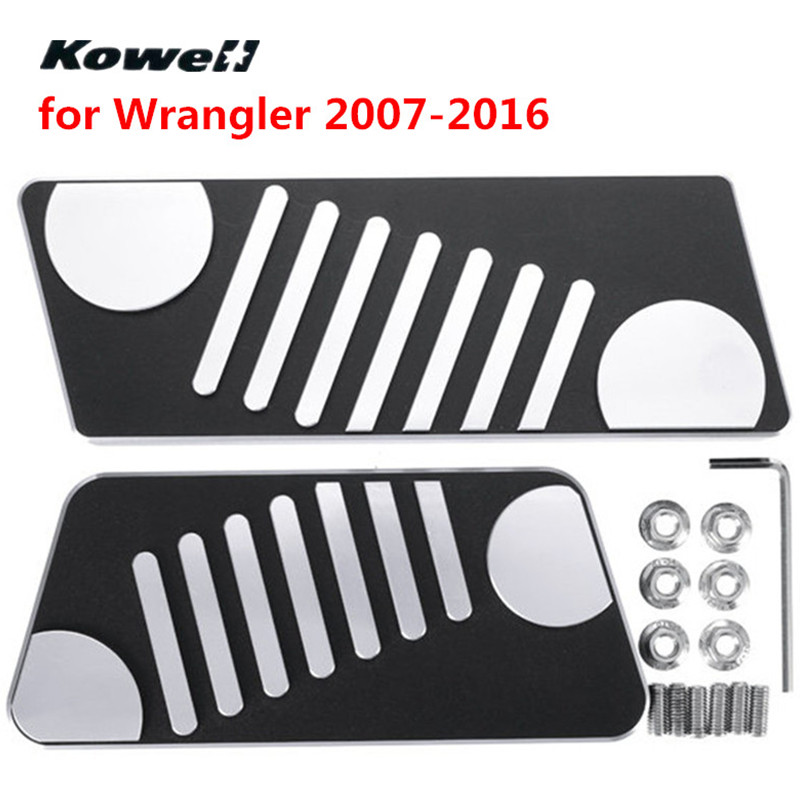 2PCS Car Pedal Pads for Jeep Wrangler 2007 2016 Foot Fuel Gas Brake Pedals Plate Cover Face Interior Accessories Parts Repair