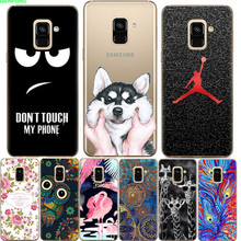 ФОТО for samsung a6 2018 case silicone soft tpu cute cartoon capas clear back cover cat phone cases for samsung galaxy a6 2018 coque