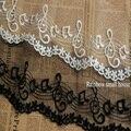 5 Ярдов/серия DIY Белый/Черный кружевной ткани вышивка музыкальная нота кружевной отделкой сетки для одежды ширина 10cm-LADY