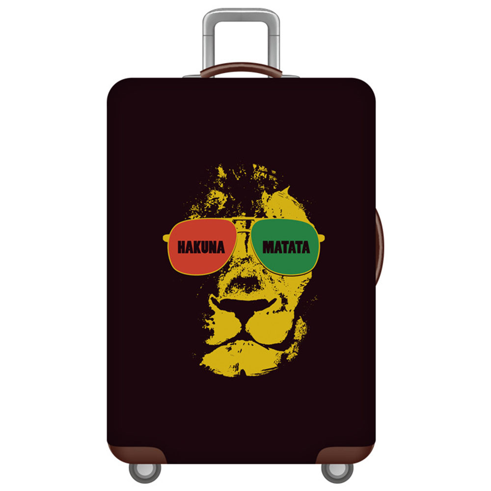Thickened Luggages Protective Cover Trolley Cases Waterproof Elastic Suitcases Bag Dust Rain Covers Lion King Print