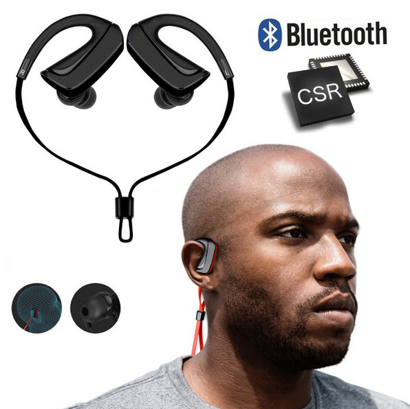 Wireless Sport Bluetooth Earphone Noise Cancelling Sweatproof Bluetooth Headphones Headset with Mic for Iphone Xiaomi Cell Phone wireless bluetooth headset mini business headphones noise cancelling earphone hands free with microphone for iphone 7 6s samsung