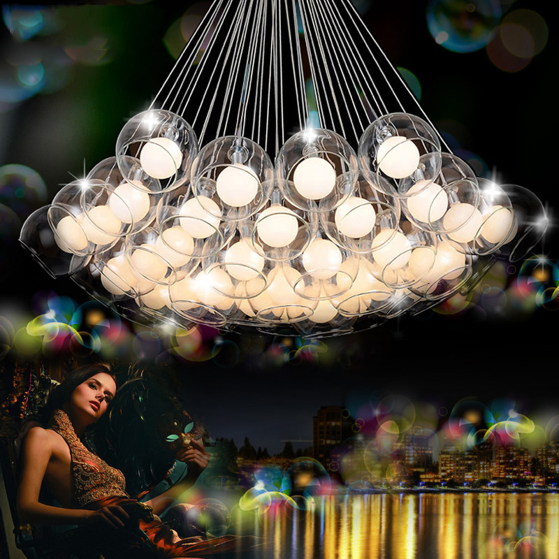 LEDchandelier led glass bulb Nordic art creative personality living room lamp dining room lamp chandelier abaju ledream contracted and creative personality sitting room dining room art glass chandelier american cherry branches pendent lamp