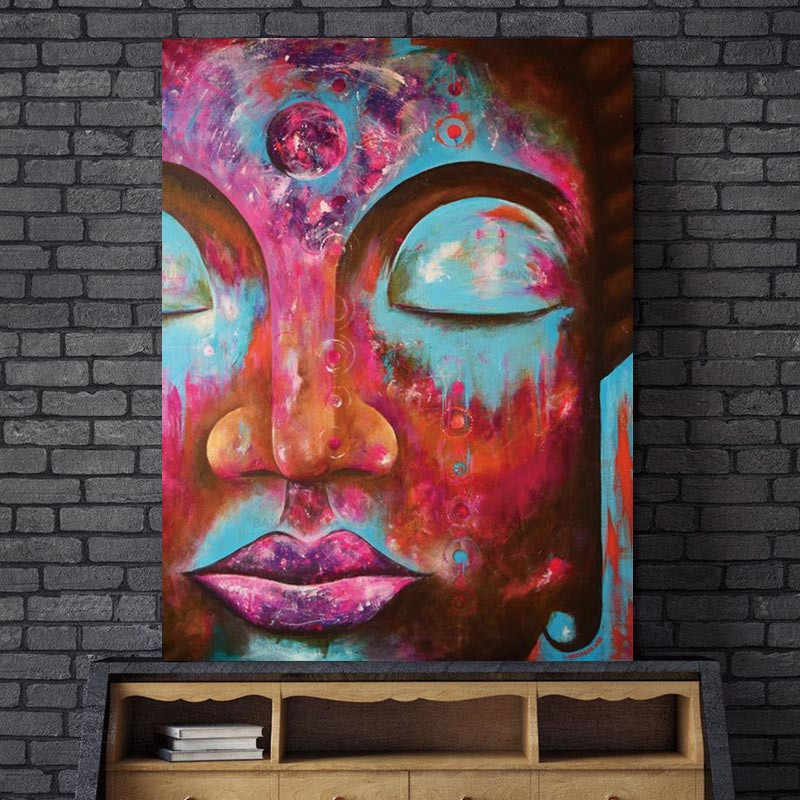 Poster art Canvas Painting Wall Art Pictures plant Buddha home decor prints on canvas painting wall decoration for living room
