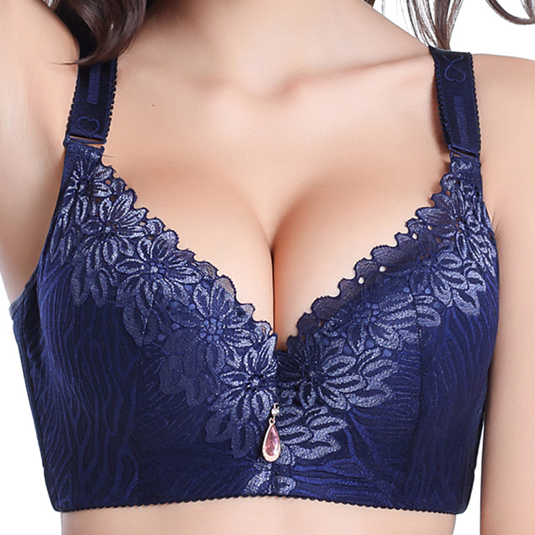 Women Underwire Thin padded Full Cup exquisite Ebroidery Bra 36-48 C D E F G H