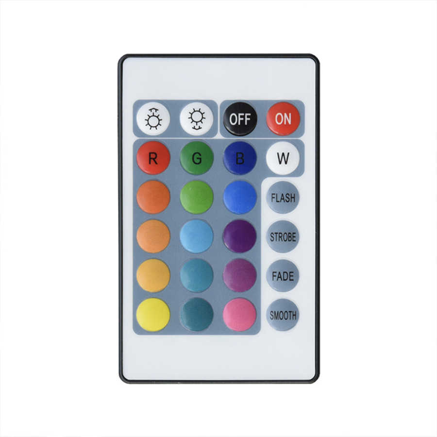 Led controlador 24 teclas ir led rgb controlador mini luzes de tira controle remoto dimmer dc12v 6a para rgb 2835 5050 lâmpada led