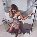 Autumn diamond long strap  Sequin Dress Vestido  Femininos  halter backless   Sequin Night club mini dress