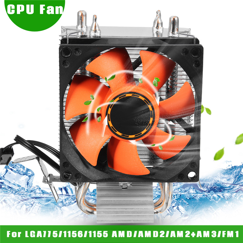 CPU Cooler Cooling Fan Silent Heatpipes Heatsink Computer CPU Cooling Cooler Radiator For LGA775/1156/1155 AMD/AMD2/AM2+AM3/FM1 computer cooler radiator with heatsink heatpipe cooling fan for hd6970 hd6950 grahics card vga cooler