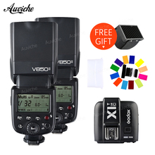 Godox V850 V850II Wireless HSS Flash Speedlite Lithium-ion Battery with X1T-C Wireless transmitter for canon camera