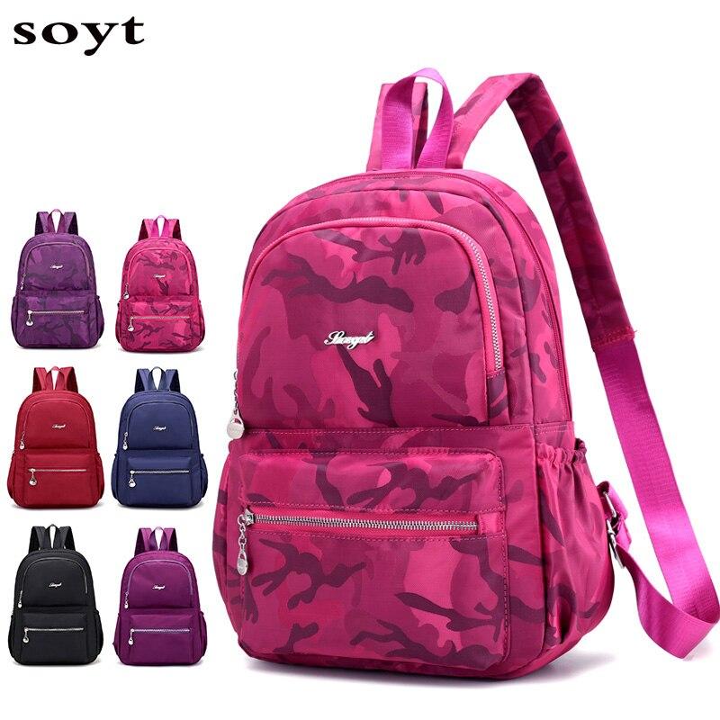 Hot Sale 2018 High Quality Men's Backpacks Waterproof Nylon Backpack Female shoulder Travel bags hot sale cayler