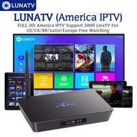 LUNATV US Canada brazil Latin IPTV Android 6.0 IPTV Box X92 S912 3/32G Media Player with 3500+America Europe Channel Set Top Box