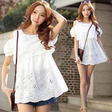 2016 summer blouses camisa feminina embroidery vintage women tops tunics plus size shirt kimono camisas blusas ropa mujer white