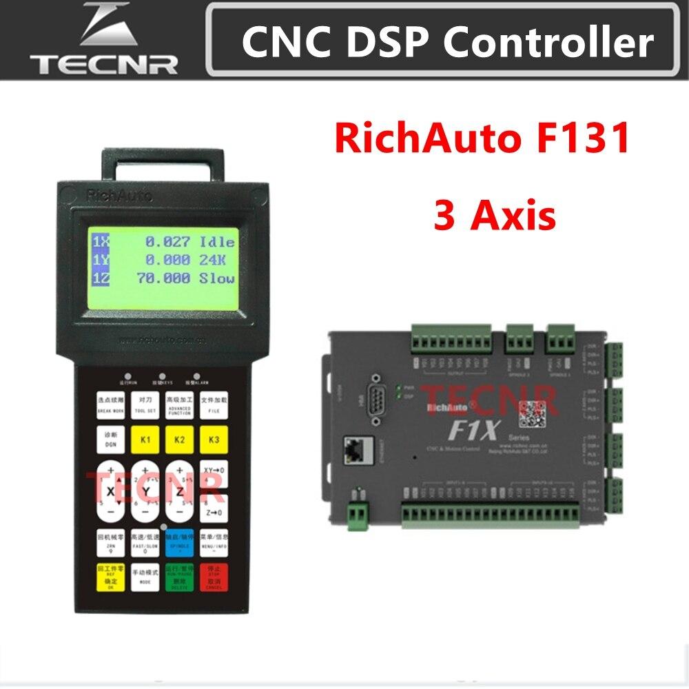 Richatto DSP F131 3-осевая система управления движением, ЧПУ DSP контролер, замена A11 B51 для ЧПУ гравер TECNR